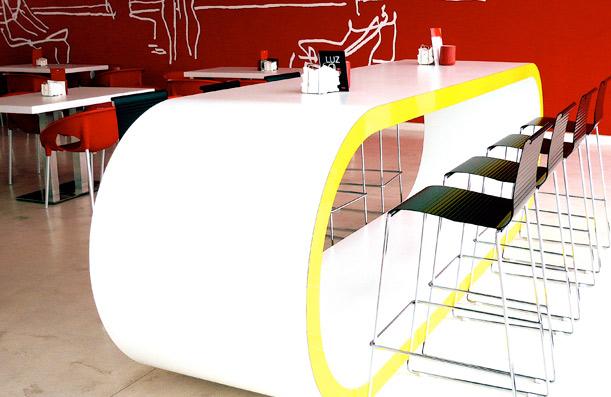 Trespa Furniture For Niemeyer Center.